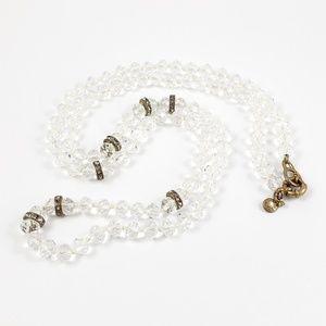 J. Crew Jewelry - J. Crew Crystal Bead Sweater Necklace